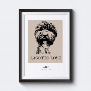 personlig namntavla hund