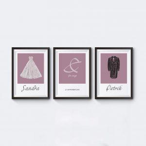 Personliga posters bröllopsgåva