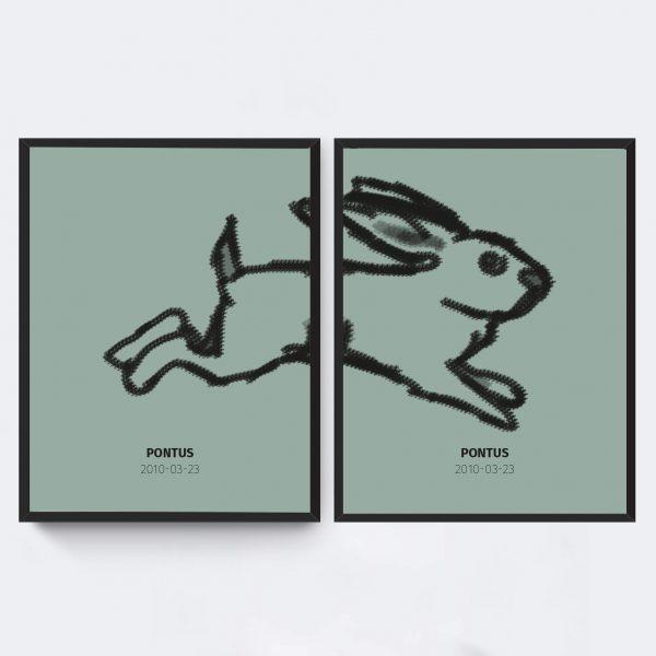 tavlor-barnrum-hoppande-kaning-gron-affisch