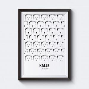 Gör en egen tavla med pandor och egen text.