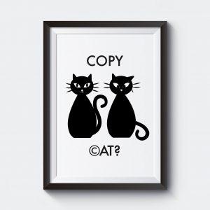Poster med katter copy cat.