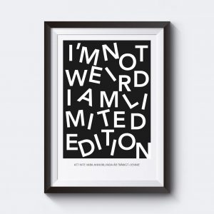 Personlig affisch där du kan skriva in egen text.