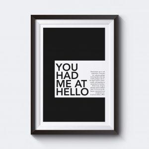Skriv in egen text på den här personliga postern