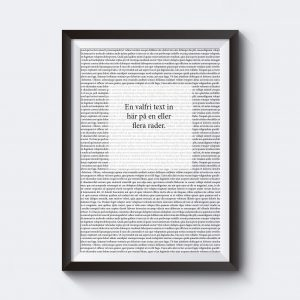 Texttavla med egen personlig text.