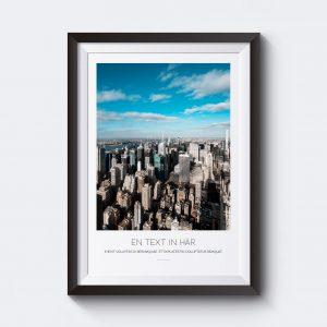 Personlig tavla med motiv över New York. Skriv in egen text.