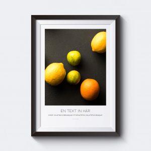 Personlig poster med citroner. Skriv in egen text.