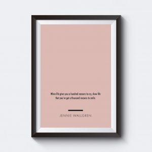 Egen text på poster med färgplatta.