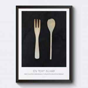 Personlig tavla till köket med egen text.