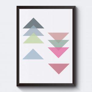 Poster med pilar vit