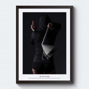 Personlig poster fotografi svartvitt tankfrakt