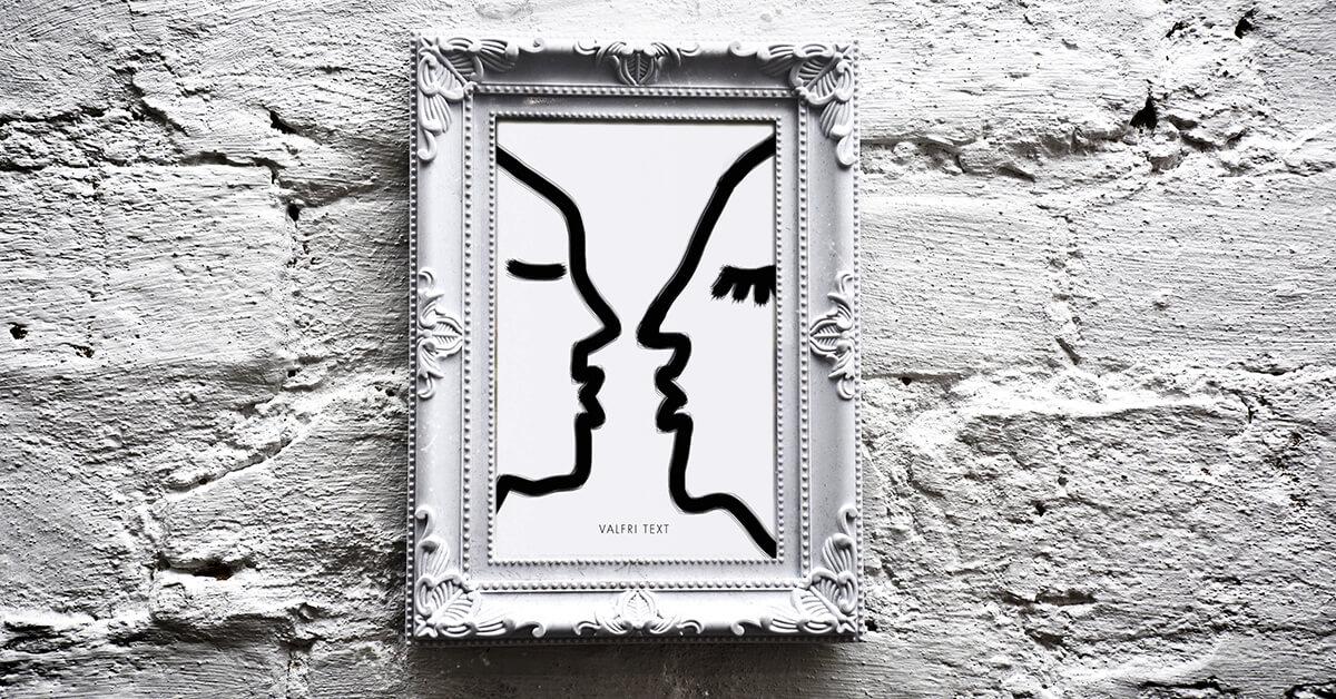 Kärleksposter svartvitt teckning personlig