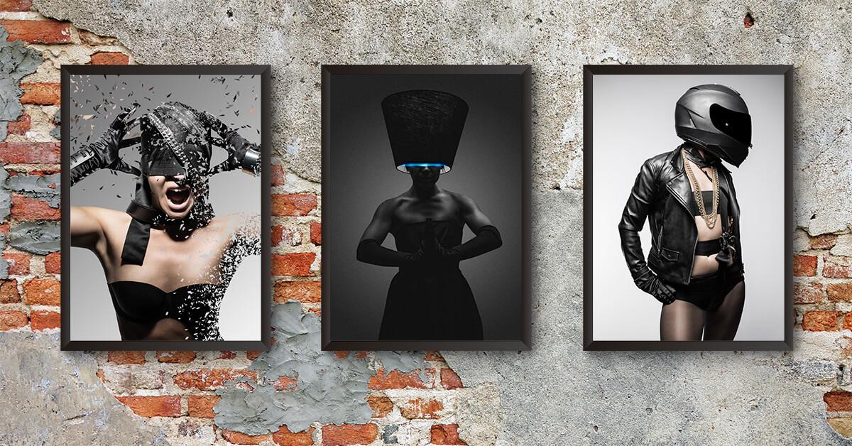 Gör egna personliga svartvita tavlor till din inredning