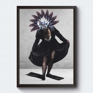 Fotokonst poster med kvinna