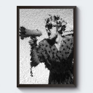 Personliga tavlor med egen text i svartvitt