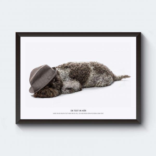 Personlig djurposter hund affisch